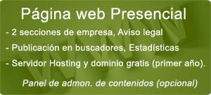 Pack Página Web Presencial